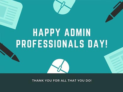 Happy National Admin Day!
